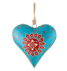 Alpine Rose Metal Heart
