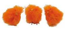Fluffy Chicks - Orange 12cm, Pk.3
