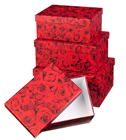 ROSES BOXES - SET OF 4
