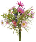 Posy of Mixed Flowers - Pink