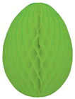 Honeycomb Paper Egg - Green 20cm