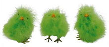 Fluffy Chicks - Green 12cm, Pk.3