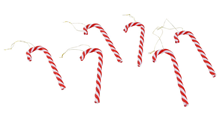 Plastic Candy Canes - Red / White Pk