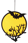 Halloween Moon & Bat Decoration