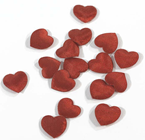 Mini Silk Hearts - Red