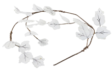 Frosted Leaf Garland - Pearl