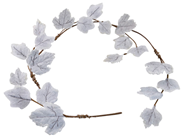 Frosted Leaf Garland - Grey