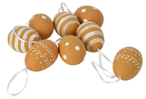 Brown Decorative Eggs - Pk.8
