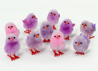 Chenille Easter Chicks - Purple Assortme