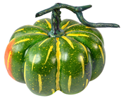 Green Pumpkin with Stalk - 18cm