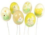 Decorative Easter Eggs On Pick - 6cm%2