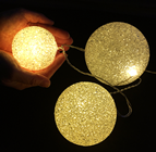 Warm White LED Balls - Set of 3