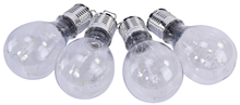 Outdoor Solar LED Clear Bulb-Shaped Lant