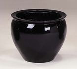 FIBREGLASS POT 49CM BLACK