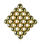 Gold-Coloured Bauble Panel - 33 x 32cm