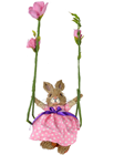 Bunny on Flower Swing