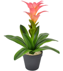 Artificial Bromelia with Pink Flower