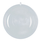 Clear Plastic Ball, 2 Part - 8cm P