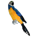 Blue Tropical Parrot - 34cm