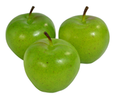 Fake Green Apples - 7cm Pk.3