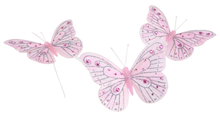 Decorative Pink Butterflies - Pk.3