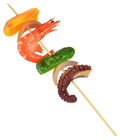 Prawn and Octopus Skewer Kebab