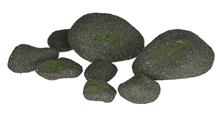 Fake Stones with Moss - Pk.8