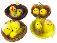 Chicks in Baskets - Set of 4