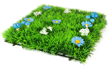 Luxury Grass Mat Square with Blue Flow