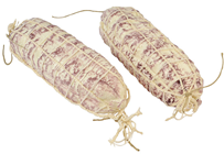 Plastic Salami in Net - White 18cm Pk.2