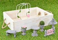 Ornamental Stone Formal Mini Garden Set
