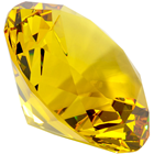 100mm Yellow Topaz Diamond Cut K9 Crys