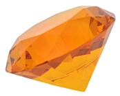 60mm Amber Diamond Cut K9 Crystal Glas