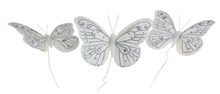 Decorative White Butterflies - Pk.3