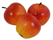 APPLE - YELLOW RED 7.5CM, PK.3