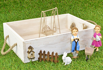 Mini Garden Set with Figurines and Swing