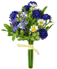 Posy of Blue Mixed Flowers